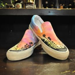 California×Sunset paint sneaker AYANOオリジナルペイントスニー
